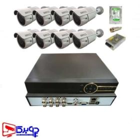 پکیج آماده 8 کانال دوربین مداربسته 5 مگاپیکسل MAXELL