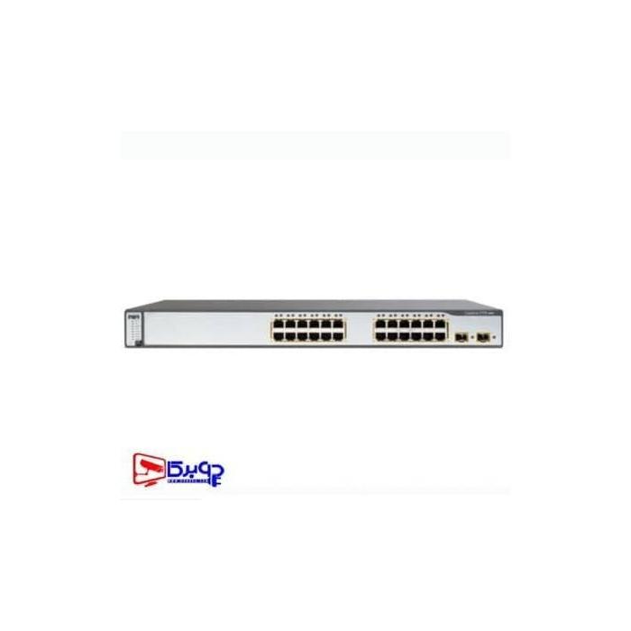 سوئیچ شبکه سیسکو 24 پورت Cisco 3750 24TS-Sس