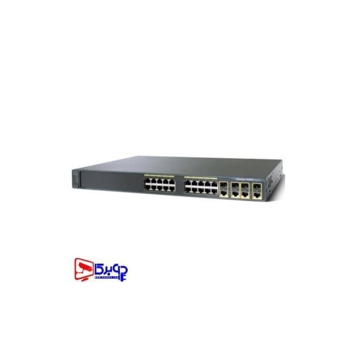 سوییچ مدیریتی 24 پورت Cisco مدل (ref) WS-C2960G-24TC-L